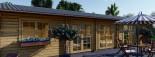 Insulated Log Cabin House JULIA 13.6m x 7.6m (45x25 ft) Twin Skin visualization 9