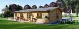 Log Cabin House LIMOGES 7.6m x 13.6m (25x45 ft) 66 mm visualization 4