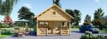 Log Cabin ALBI 5.6m x 5m (18x16 ft) 44 mm visualization 3