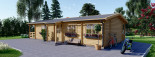 Insulated Residential Cabin TOSCANA 14m x 6m (46x20 ft) Twin Skin visualization 6