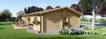 Log Cabin House LIMOGES 7.6m x 13.6m (25x45 ft) 66 mm visualization 5