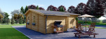 Residential Log Cabin DIJON 6.6m x 7.8m (22x26 ft) 44 mm visualization 3
