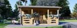 Log Cabin ROYAL 5m x 5m (16x17 ft) 44 mm visualization 3