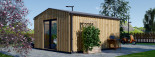 Insulated Garden Office TINA 4m x 4m (13x13 ft) Twin Skin visualization 5