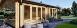 Insulated Garden Studio MARINA 8m x 6m (26x20 ft) Building Reg Friendly visualization 8