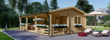 Residential Log Cabin AMELIA 9m x 6m (30x20 ft) 44 mm visualization 1