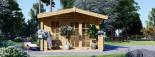 Insulated Log Cabin KING 4m x 5m (13x16 ft) Twin Skin visualization 2
