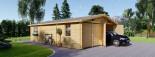 Double Wooden Garage 6m x 9m (20x30 ft) 66 mm visualization 1
