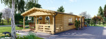 Insulated Residential Cabin TOSCANA 14m x 6m (46x20 ft) Twin Skin visualization 3