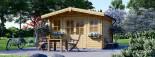 Insulated Garden Log Cabin OLYMP 4m x 3m (13x10 ft) Twin Skin visualization 6