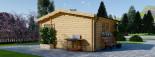 Insulated Log Cabin NINA 5m x 5m (16x16 ft) Twin Skin visualization 6