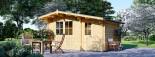 Garden Log Cabin BENINGTON 4.5m x 3m (15x10 ft) 34 mm visualization 6