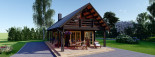 Insulated Log Cabin House AURA 6m x 12m (20x40 ft) Twin Skin visualization 10
