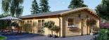 Insulated Log Cabin House JULIA 13.6m x 7.6m (45x25 ft) Twin Skin visualization 1