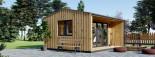 Insulated Garden Office TINA 4m x 4m (13x13 ft) Twin Skin visualization 7