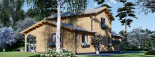 Log Cabin House HOLLAND PLUS 13.5m x 8.5m (44x28 ft) 66 mm visualization 8