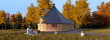 BBQ Hut With Extension 5.5m x 8m (18x26 ft) 44 mm 25 m² visualization 1