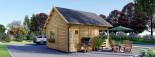Log Cabin ALBI 5.6m x 5m (18x16 ft) 44 mm visualization 6