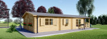 Insulated Residential Cabin DONNA 12.5m x 6m (41x20 ft) Twin Skin visualization 4