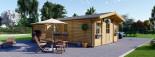 Residential Log Cabin DIJON 6.6m x 7.8m (22x26 ft) 44 mm visualization 2