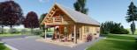 Log Cabin House AURA 6m x 12m (20x40 ft) 66 mm visualization 4