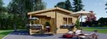 Log Cabin OLIVIA 6m x 6m (20x20) 44 mm visualization 2