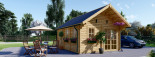 Insulated Residential Log Cabin SCOOT 4.5m x 6m (15x20 ft) Building Reg Friendly visualization 2