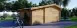 Insulated Log Cabin ISLA 6m x 5m (20x16 ft) Twin Skin visualization 5