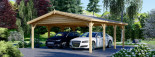 Double Wooden Carport CLASSIC 6m x 6m (20x20 ft) visualization 6