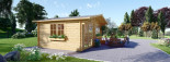 Garden Log Cabin WISSOUS 5m x 3m (16x10 ft) 44 mm visualization 2