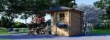 Summer House AIDA 3m x 3m (10x10 ft) 28 mm visualization 3