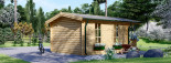 Insulated Log Cabin KING 4m x 5m (13x16 ft) Twin Skin visualization 6