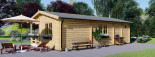 Insulated Residential Log Cabin AMELIA 9m x 6m (30x20 ft) Building Reg Friendly visualization 7