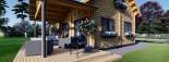 Insulated Log Cabin House VERA 11.9m x 9.7m (39x32 ft) Building Reg Friendly visualization 9