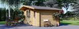 Garden Log Cabin BENINGTON 4.5m x 3m (15x10 ft) 34 mm visualization 5