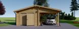 Single Wooden Garage with Carport 7m x 6m (23x20 ft) 44 mm visualization 7