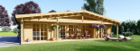 Insulated Log Cabin House RIVIERA 13m x 9m (43x30 ft) Building Reg Friendly visualization 2