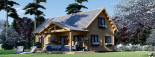 Log Cabin House VERA 11.9m x 9.7m (39x32 ft) 66 mm visualization 1