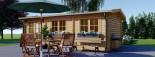 Log Cabin NORA 7m x 3.5m (23x11 ft) 44 mm visualization 3