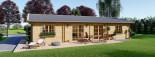 Log Cabin House LIMOGES 7.6m x 13.6m (25x45 ft) 66 mm visualization 3