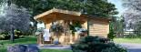 Log Cabin KING 4m x 5m (13x16 ft) 44 mm visualization 4