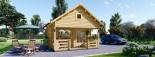 Log Cabin ALBI 5.6m x 5m (18x16 ft) 44 mm visualization 2