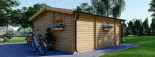 Residential Log Cabin ALTURA 6m x 6.7m (20x22 ft) 44mm visualization 5