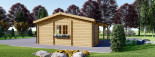 Double Wooden Carport With Shed 7.7m x 6m (25x20 ft) 44 mm visualization 6