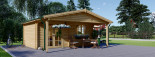 Insulated Log Cabin CAMILA 6m x 6m (20x20 ft) Twin Skin visualization 4