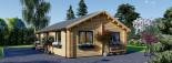 Insulated Residential Log Cabin GRETA 9m x 6m (30x20 ft) Building Reg Friendly visualization 8