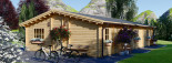 Insulated Log Cabin House JULIA 13.6m x 7.6m (45x25 ft) Twin Skin visualization 7