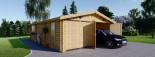 Double Wooden Garage 6m x 9m (20x30 ft) 66 mm visualization 2