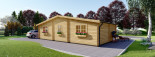 Residential Log Cabin FILL 10.5m x 6m (35x20 ft) 44 mm visualization 4