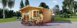 Log Cabin WISSOUS 5m x 6m (16x20 ft) 44 mm visualization 5